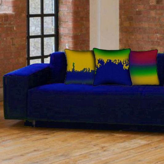 沙發墊子 / 方形 / 圖案 / 布料圖片