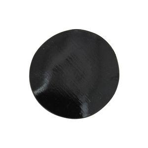 圆形盘子 / 珐琅砂岩 / 黑色 / 蓝色