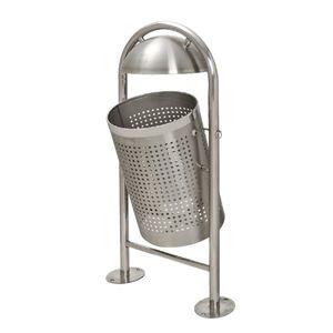 公共垃圾桶 / 不锈钢 / 翻转盖式 / 现代风格