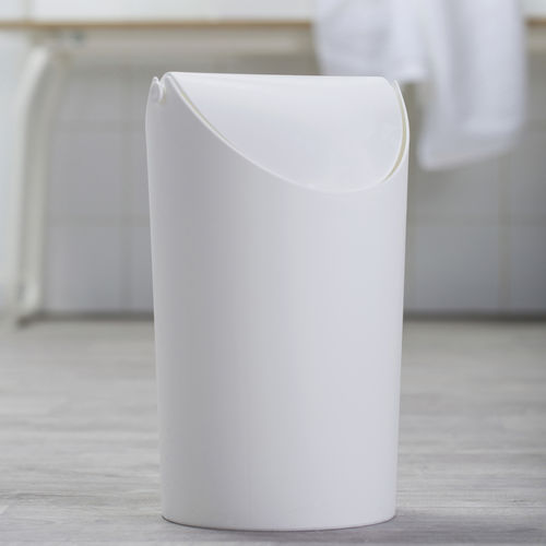 浴室垃圾桶 / 塑料 / 翻转盖式