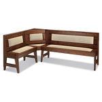 现代风格长凳 / 木质 / 带椅背