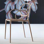 现代风格餐厅椅 / 带扶手 / 可叠放 / 聚丙烯