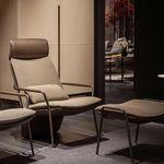 现代风格扶手椅 / 布料 / 皮质 / 金属