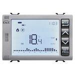 可编程的温度调节器 / 墙面嵌入式 / 用于空调 / 数字显示