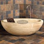 放置式浴缸 / 椭圆 / 天然石材