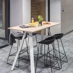 现代风格高脚桌 / 木质 / 矩形 / 商用