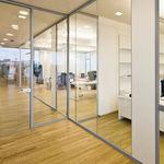 活动隔断 / 玻璃 / 用于办公室 / 透明