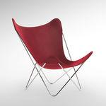 现代风格花园椅子 / 钢 / 布料 / 红色