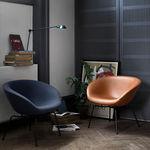 现代风格扶手椅 / 布料 / 皮质 / 钢