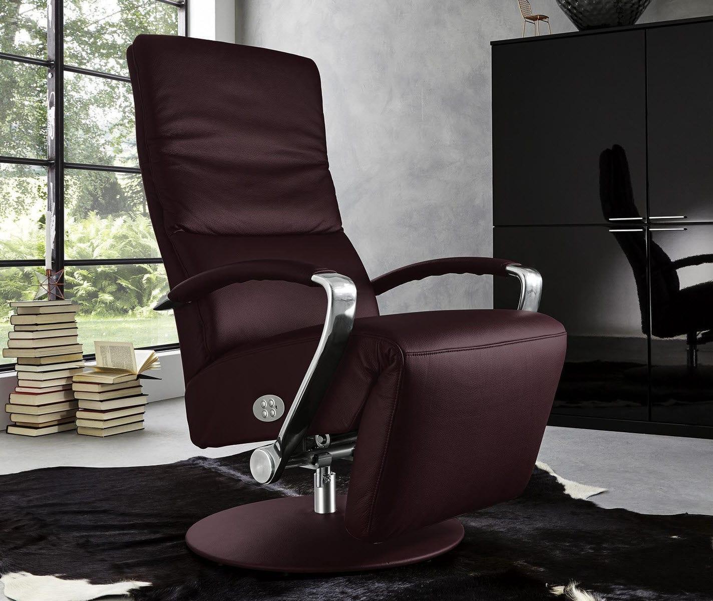 现代风格扶手椅 皮质 回转 中央脚撑 Mr 4625 Musterring