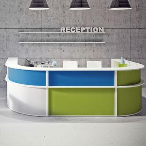 组合式前台接待桌 / 圆弧形 / 布料