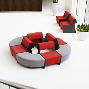 组合式软包长凳 / 现代风格 / 皮质 / 布料