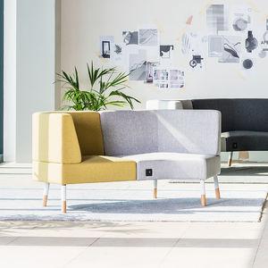 组合式软包长凳 / 现代风格 / 木质 / 布料