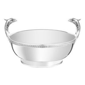 镀银金属餐桌中央摆饰
