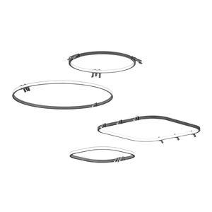 悬挂式灯具 / LED式 / 圆形 / 方形