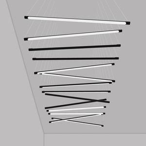 悬挂式灯具 / LED式 / 线性 / 管状