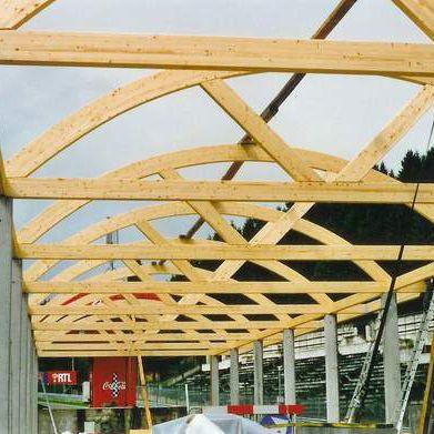 木质棚顶架
