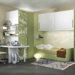 白色儿童房 / 绿色 / 漆木 / 漆铝