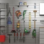 壁挂收纳系统 / 现代风格 / 铝制 / 车库