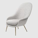 传统风格扶手椅 / 布料 / 带扶手 / 灰色
