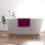 放置式浴缸 / 椭圆 / 坚硬表面