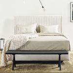 双人床床头板 / 现代风格 / 布料 / 布艺