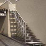 直线型楼梯 / L型 / 金属结构 / 金属台阶