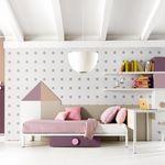 白色儿童房 / 粉色 / 木质 / 女孩