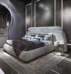 双人床 / 传统风格 / 布艺 / 带床头板