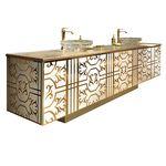 双台盆柜 / 独立式 / 木质 / 传统风格