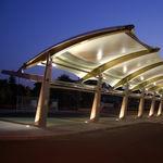 金属框架张拉膜 / 遮雨篷 / 公共空间