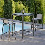 现代风格吧椅 / 可叠放 / Textilene® 材质 / 铝