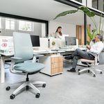 现代风格办公室扶手椅 / 布料 / 滑轮 / 五星脚