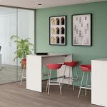 现代风格高脚桌 / 三聚氰胺 / 金属桌脚 / 圆形