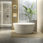 放置式浴缸 / 圆形 / 瓷质 / 深