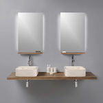 台面式洗手池 / 方形 / 石材 / 商用