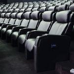 布料影院椅 / 带头枕 / 倾斜 / 红色