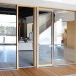 滑动落地窗门 / 木质 / 双层玻璃