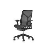 现代风格办公室扶手椅 / 网眼 / 人体工学 / 黑色