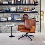 现代风格扶手椅 / 布料 / 皮质 / 铝