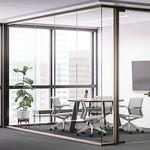 固定式隔断 / 玻璃 / 用于办公室 / 隔音