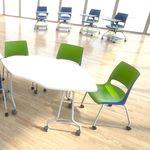 现代风格访客椅 / 带扶手 / 布艺 / 可叠放