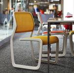 现代风格椅子 / 布艺 / 带扶手 / 可叠放
