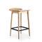现代风格吧台凳 / 皮质 / 漆钢 / 实木