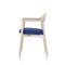 传统风格访客椅 / 带扶手 / 布艺 / 木质