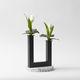 现代风格花瓶 / 彩绘金属 / 水磨石