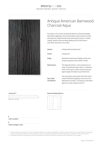 Antique American Barnwood Charcoal Aqua