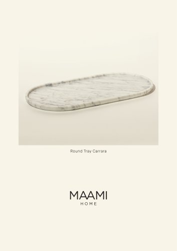 Round Tray Carrara factsheet