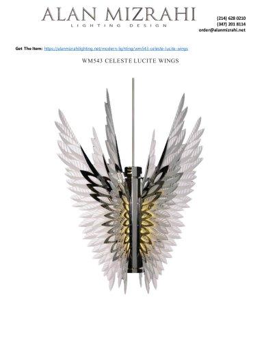 WM543 CELESTE LUCITE WINGS