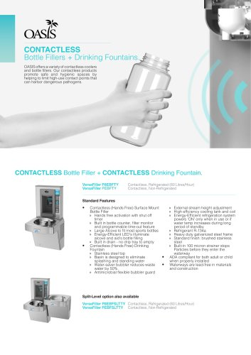 Contactless Bottle Fillers + Drinking Fountains Flyer